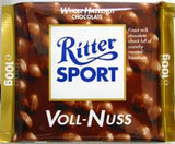 Ritter Sport Milk Chocolate with Whole Hazelnuts, 100g - Parthenon Foods