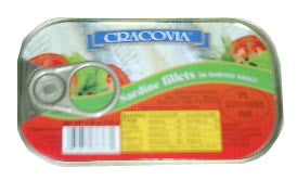 Sardine Fillets in Tomato Sauce (cracovia) 170g - Parthenon Foods