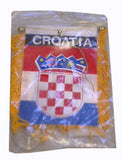 Croatian Flag with String and Suction Cup, 4x6 in. - Parthenon Foods