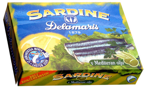 Sardines in Olive Oil (Delamaris) 105g - Parthenon Foods