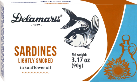Sardines Lightly Smoked in Sunflower Oil (MarcoPolo) 3.17 oz (90g) - Parthenon Foods