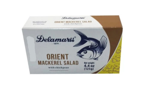 Orient Mackerel Salad with Chickpeas (Delamaris) 125 g (4.4 oz) - Parthenon Foods