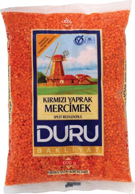 Red Lentils (DURU) 1000g (35.3oz) - Parthenon Foods