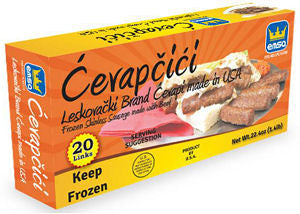 Minced Meat Sticks Hot - Leskovacki Cevapi, approx. 1.4 lb Box - Parthenon Foods