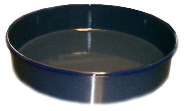 Round Enamel Pan (26 cm), approx. 2 in. deep - Parthenon Foods