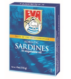 Eva Sardines in Vegetable oil, 115g(4oz) - Parthenon Foods