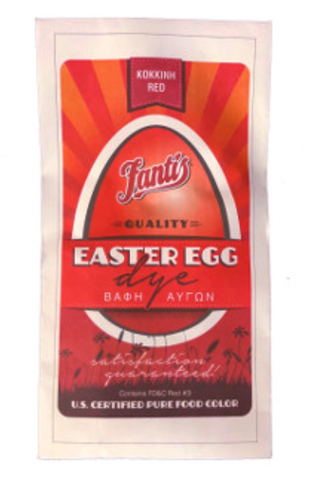 Egg Dye, Red (Fantis) - Parthenon Foods