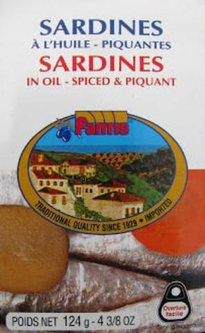 Sardines in Oil Spiced and Piquant (Fantis) 125g - Parthenon Foods