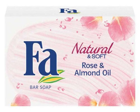 Fa Bar Soap, Natural & Soft Rose & Almond Oil, 100g - Parthenon Foods