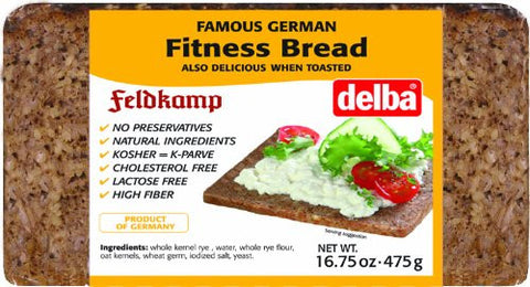 Feldkamp Fitness Bread, 16.75 oz (475g) - Parthenon Foods