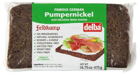 Feldkamp Pumpernickel Bread, 17.6oz (500g) - Parthenon Foods