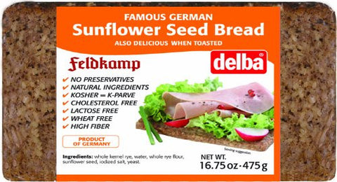 Feldkamp Sunflower Seed Bread, 17.6oz (500g) - Parthenon Foods
