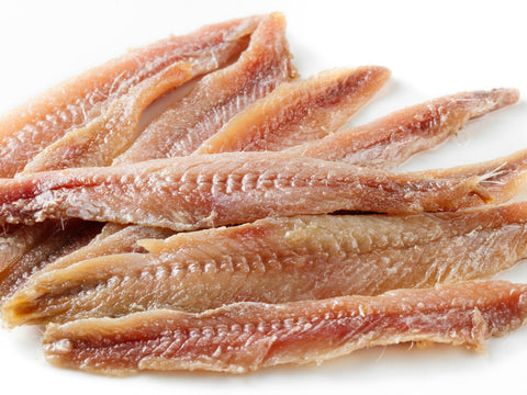 Anchovies, Flat Fillets in Soya Oil (White Crown) 28oz (793g) - Parthenon Foods