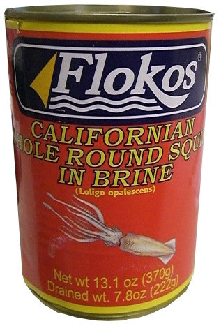 Squid in Brine (Flokos) 13.1 oz (370g) - Parthenon Foods