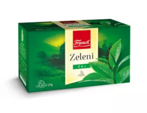 Green Tea (Franck) 20 tea bags, 1.75g - Parthenon Foods