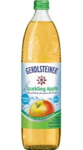Gerolsteiner Sparkling Apple Mineral Water, 25.3 oz - Parthenon Foods