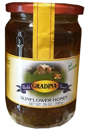 Sunflower Honey (Gradina) 25 oz - Parthenon Foods