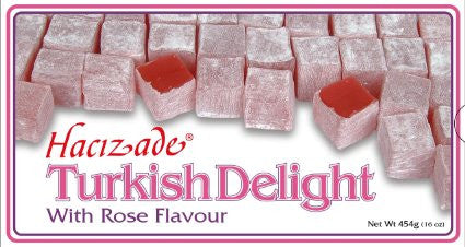 Turkish Delight with Rose Flavor (Hacizade) 454g - Parthenon Foods