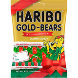 Haribo Christmas Bears Gummi Candy, 4 oz - Parthenon Foods