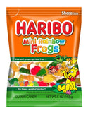 Haribo Mini Rainbow Frogs Gummi Candy, 5oz (142g) - Parthenon Foods