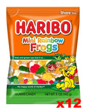 Haribo Mini Rainbow Frogs Gummi Candy, CASE (12 x 5 oz Bags) - Parthenon Foods