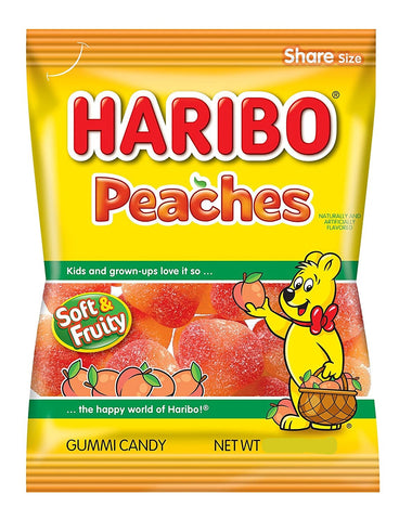 Haribo Peaches, 5 oz - Parthenon Foods