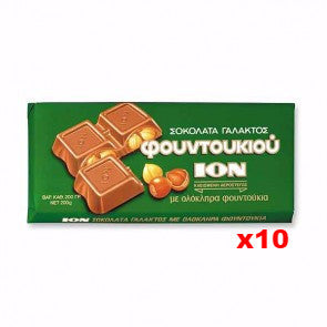 Milk Chocolate with Hazelnuts (ION) CASE (10 x 200g) - Parthenon Foods