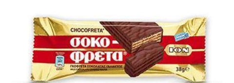 Chocofreta - Milk Chocolate Covered Wafers  38g - Parthenon Foods