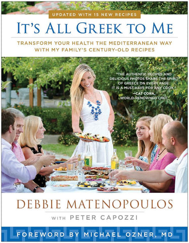 It's All Greek to Me Cookbook by Debbie Matenopoulos, Hardback - Parthenon Foods