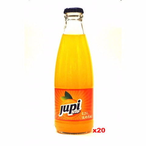 Jupi Orange Soft Drink-Glass (CASE) 20 x 250ml - Parthenon Foods