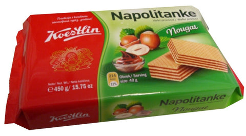Hazelnut Napolitan Wafers (Koestlin) 370g - Parthenon Foods