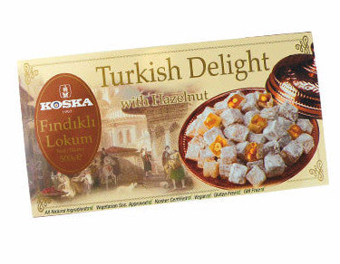 Turkish Delight with Hazelnut (Koska) 500g - Parthenon Foods