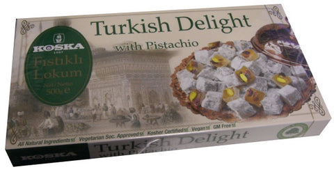 Turkish Delight with Pistachio (Koska) 500g - Parthenon Foods