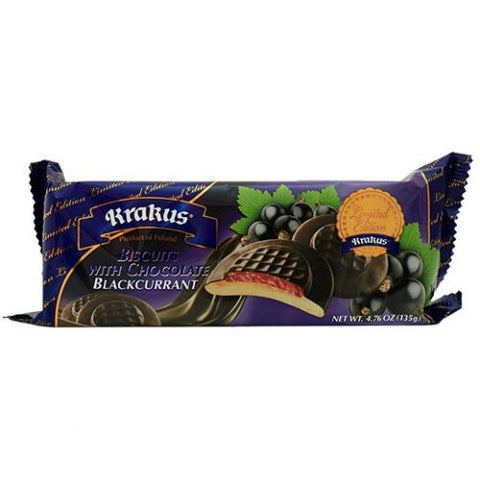 Biscuits with Chocolate, Blackcurrant (Krakus) 4.76 oz (135g) - Parthenon Foods