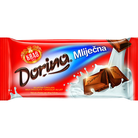 Milk Chocolate (Dorina) 80g - Parthenon Foods