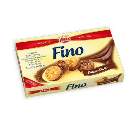 Fino Kakao (COCOA), Filled Tea Biscuit, 300g - Parthenon Foods