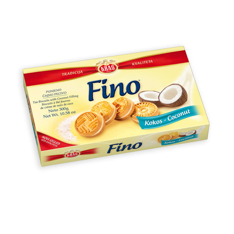 Fino Kokos (Coconut), Filled Tea Biscuit, 300g - Parthenon Foods