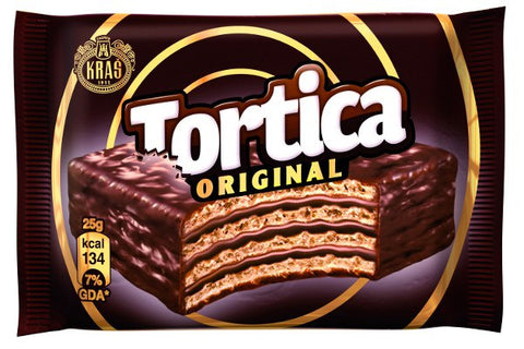 Tortica Chocolate Wafer with Chocolate (Kras) 25g - Parthenon Foods