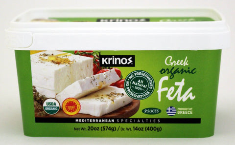 Organic Greek Feta Cheese (Krinos) 400g - Parthenon Foods