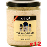 Taramosalata (krinos), CASE 12x14oz - Greek Style Caviar Spread - Parthenon Foods