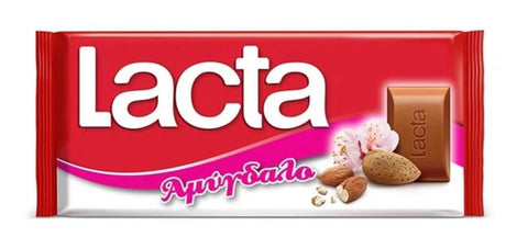 Lacta Milk Chocolate with Almonds, 85g - Parthenon Foods