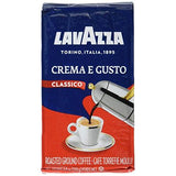 Espresso Crema and Gusto (Lavazza) Ground Coffee, 8.8oz (250g) - Parthenon Foods