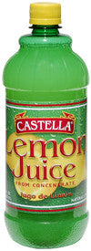 Lemon Juice, From Concentrate (Castella) 32 oz - Parthenon Foods