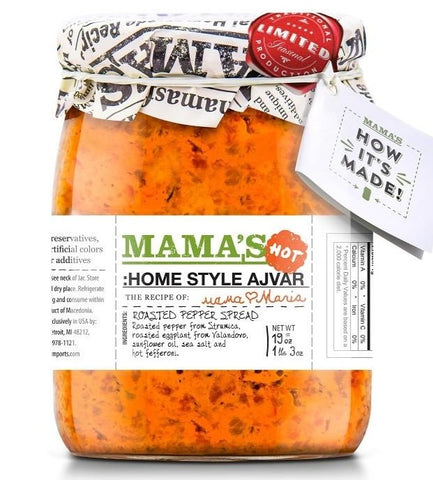 Mama's Home Style Ajvar HOT 19 oz - Parthenon Foods