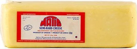 Kaseri Cheese (Matis) approx. 6.5 lb Square - Parthenon Foods
