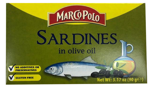 Sardines in Olive Oil (MarcoPolo) 3.17 oz (90g) - Parthenon Foods