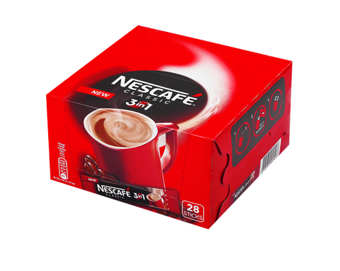 Nescafe classic 3 in 1, CASE (28 x 17.5g) - Parthenon Foods  - 1