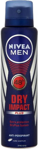 Nivea Spray Deodorant, DRY Impact For Men, 150ml - Parthenon Foods