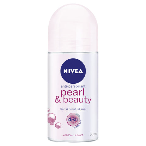 Nivea Pearl Beauty for Women Roll-On Deodorant, 50ml - Parthenon Foods