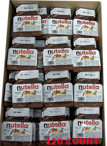 Nutella - Hazelnut Spread, CASE, (120 x .52oz)) 120 COUNT - Parthenon Foods